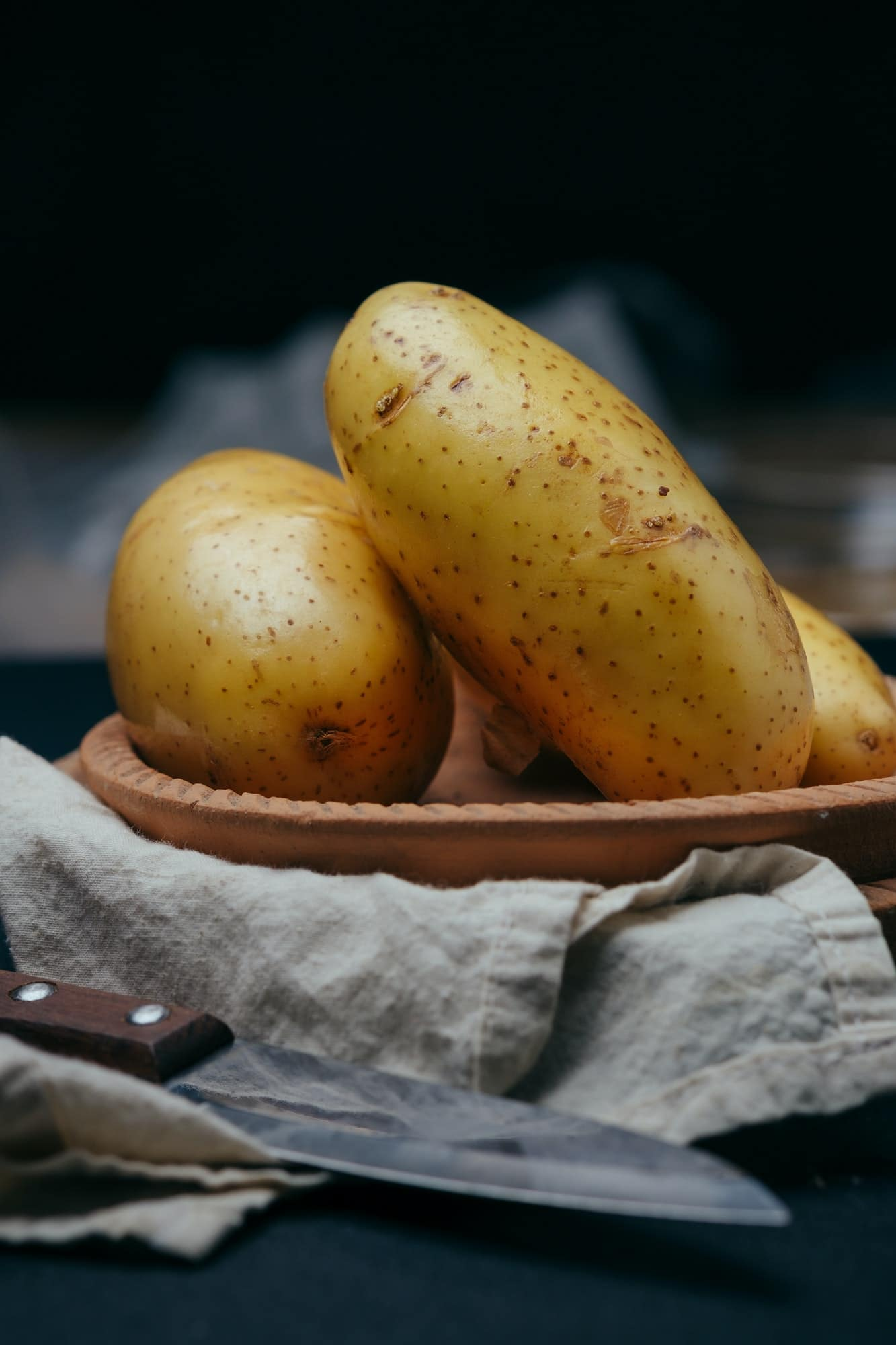 The Potatoes in a clay dish